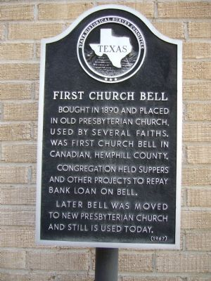 First Church Bell Marker image. Click for full size.