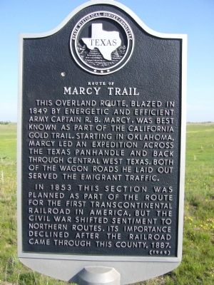 Route of Marcy Trail Marker image. Click for full size.