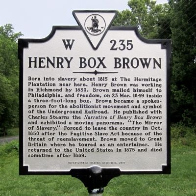 Henry Box Brown Marker image. Click for full size.