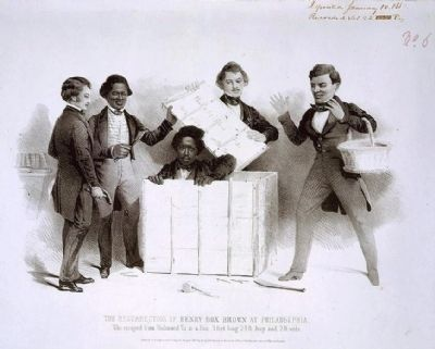 "Henry ""Box"" Brown upon his deliverance from slavery. image. Click for full size."