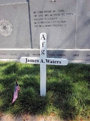 "Dedication:: ""James A. Waters"" Cross image. Click for full size."