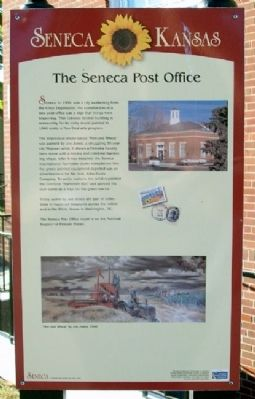 The Seneca Post Office Marker image. Click for full size.