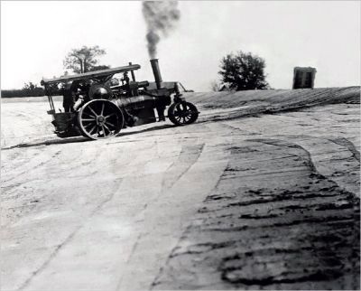 Gravel & Tar Track needed a Steam Roller ! ! image. Click for full size.