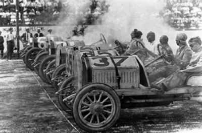 1911 - - First 500 Mile Race. image. Click for full size.