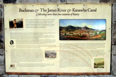 Buchanan & The James River & Kanawha Canal Marker image. Click for full size.