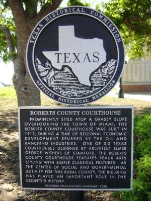 Roberts County Courthouse Marker image. Click for full size.