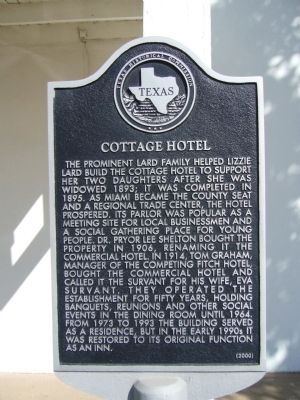 Cottage Hotel Marker image. Click for full size.