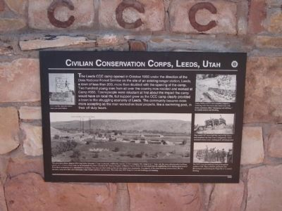 Civilian Conservation Corps, Leeds, Utah image. Click for full size.