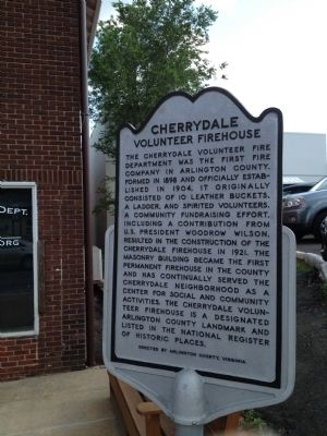 Cherrydale Volunteer Firehouse Marker image. Click for full size.