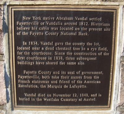 Abraham Vandal Marker (Plaque Two) image. Click for full size.