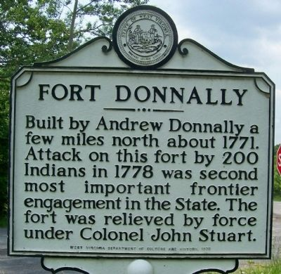 Fort Donnally Marker side image. Click for full size.