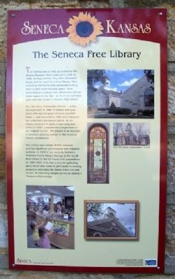 The Seneca Free Library Marker image. Click for full size.