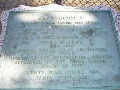Gray County Marker image. Click for full size.