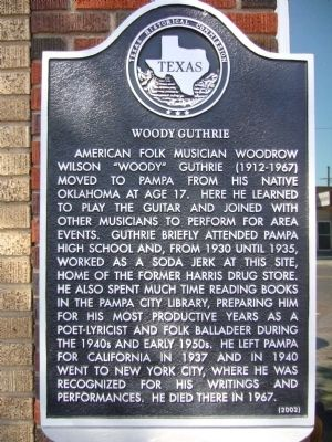 Woody Guthrie Marker image. Click for full size.