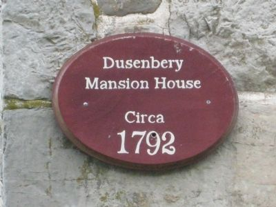 Dusenbery Mansion House Marker image. Click for full size.