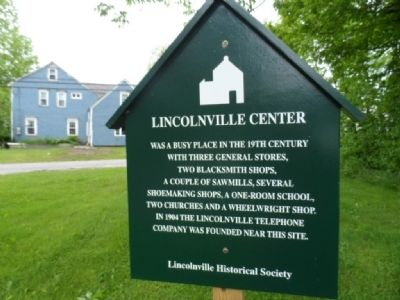 Lincolnville Center Marker image. Click for full size.