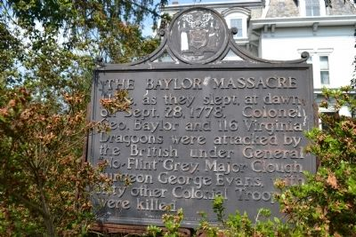 The Baylor Massacre Marker image. Click for full size.