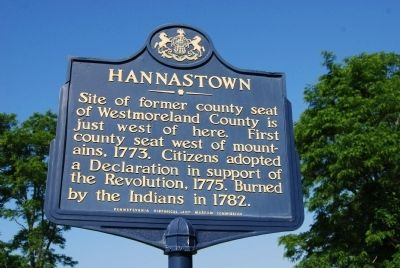 Hannastown Marker image. Click for full size.