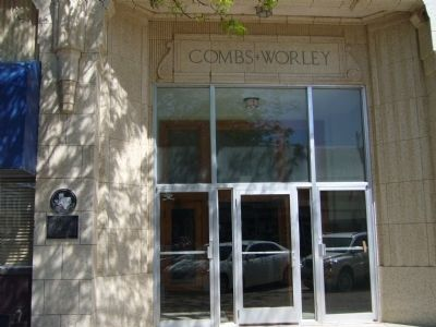 Combs-Worley Building Marker image. Click for full size.