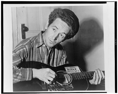 Woody Guthrie (1943) image. Click for full size.