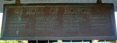 World War Memorial Roll of Honor image. Click for full size.