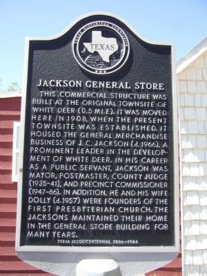 Jackson General Store Marker image. Click for full size.