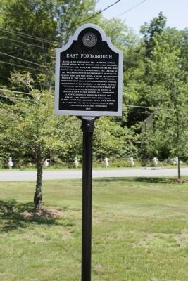 East Foxborough Marker image. Click for full size.