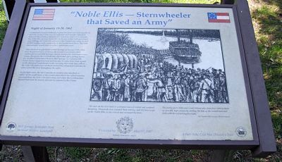Noble Ellis - Sternwheeler that Saved an Army Marker image. Click for full size.