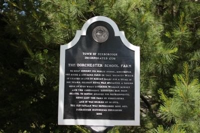 The Dorchester School Farm Marker image. Click for full size.