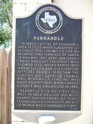 Panhandle Marker image. Click for full size.