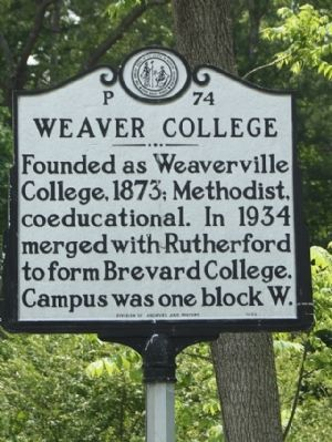 Weaver College Marker image. Click for full size.