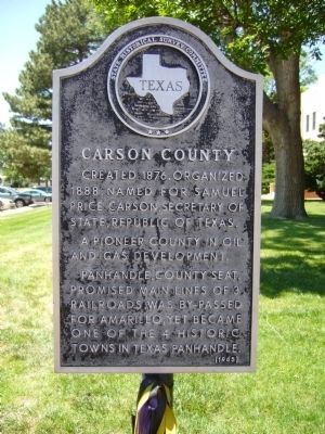 Carson County Marker image. Click for full size.