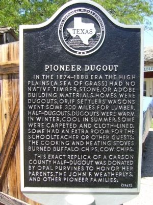Pioneer Dugout Marker image. Click for full size.