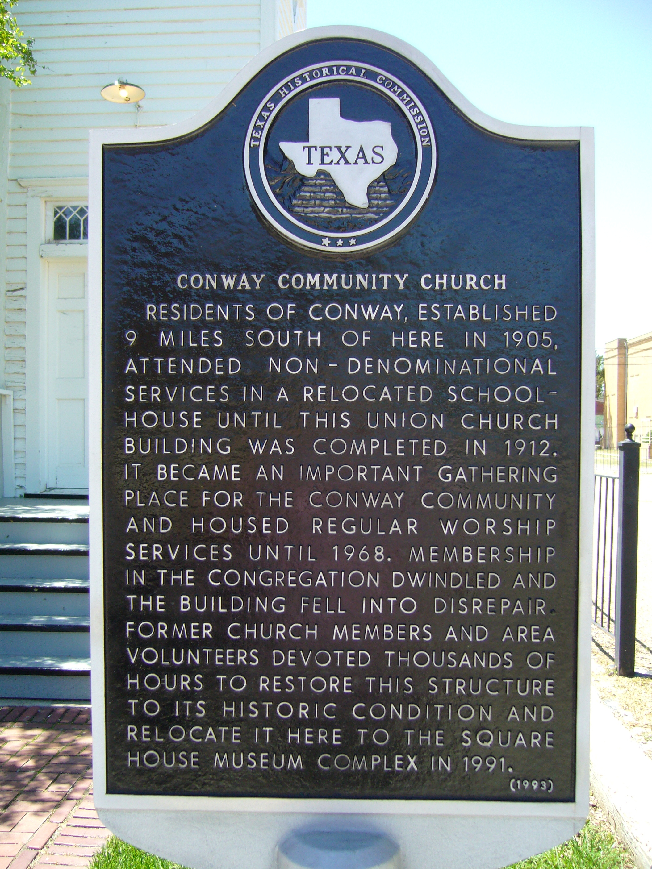 Conway Community Church Marker