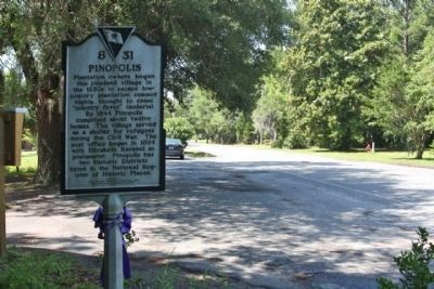 Pinopolis Marker, looking south on Pinopolis Road (State Road 8-5) image. Click for full size.