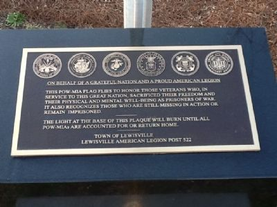 POW-MIA Memorial Marker image. Click for full size.