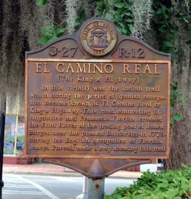 El Camino Real	 Marker image. Click for full size.