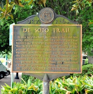 De Soto Trail Marker image. Click for full size.