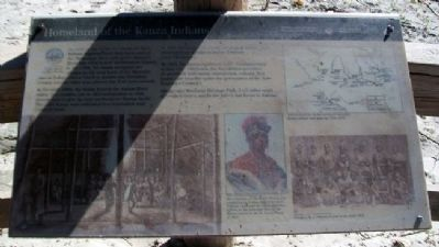 Homeland of the Kanza Indians Marker image. Click for full size.
