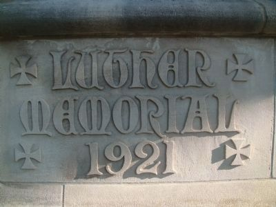 Luther Memorial Evangelical Lutheran Church Cornerstone image. Click for full size.
