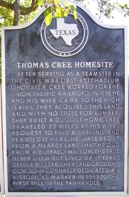 Thomas Cree Homesite Marker image. Click for full size.