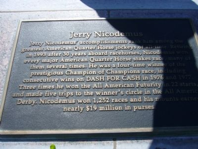 Jerry Nicodemus Marker image. Click for full size.