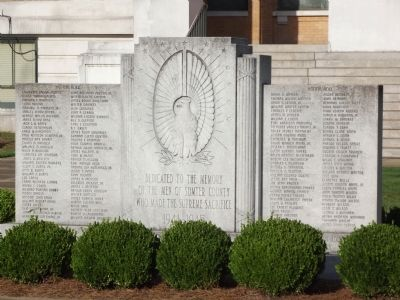 Sumter World War II Monument Marker image. Click for full size.
