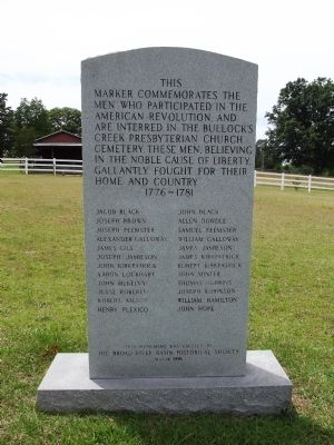 Bullock Creek Revolutionary War Monument Marker image. Click for full size.
