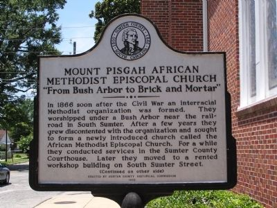 Mount Pisgah African Methodist Episcopal Church Marker image. Click for full size.