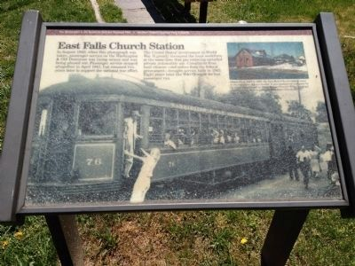 East Falls Church Station Marker image. Click for full size.