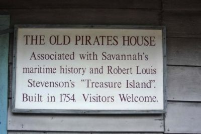 The Old Pirates House Marker image. Click for full size.