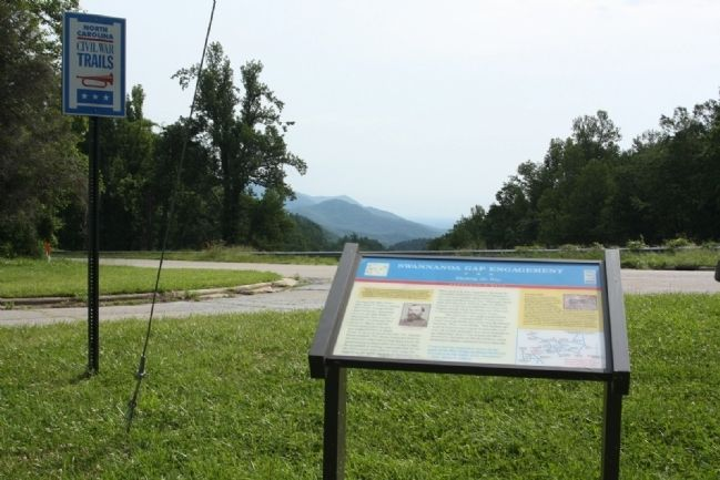 Swannanoa Gap Engagement Marker and Gap seen in background image. Click for full size.