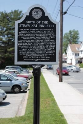 Birth of the Straw Hat Industry Marker image. Click for full size.