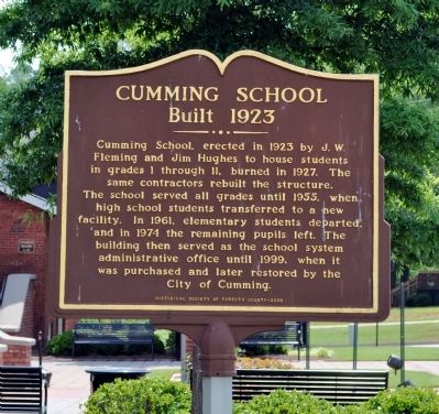 Cumming School Marker image. Click for full size.